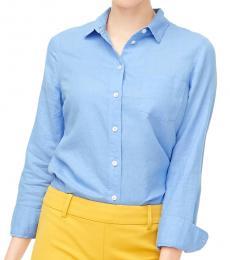 J.Crew Light Blue Linen-Cotton Shirt