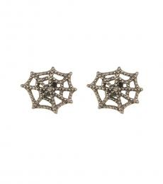 Silver Cobweb Earrings