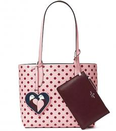 Kate Spade Pink Arch Love Birds Reversible Large Tote