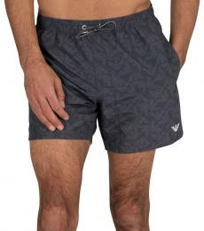 Emporio Armani Dark Grey Boxer Swim Shorts