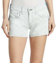 Rag And Bone Sky Blue Cut Off Shorts
