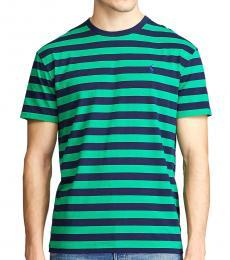 Ralph Lauren Dark Green Classic Striped T-Shirt
