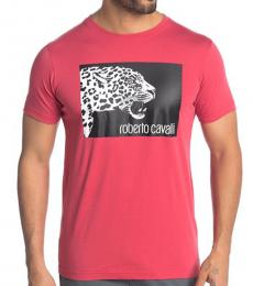 Red Graphic Crew Neck T-Shirt