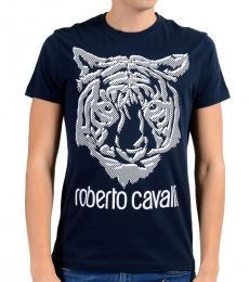 Dark Blue Graphic Tiger T-Shirt