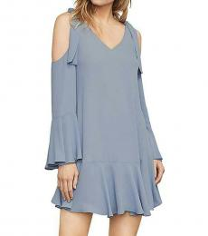 BCBGMaxazria Chambray Cold Shoulder Party Dress