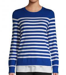 Calvin Klein Regatta Striped Twofer Sweater