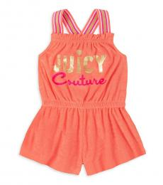 Juicy Couture Little Girls Pink Terry Romper