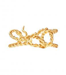 Tory Burch Rolled Brass Torsade Cuff Bracelet
