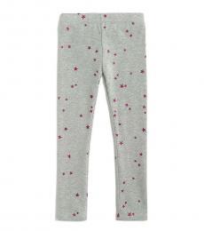 J.Crew Little Girls Grey Glitter Star Leggings