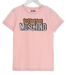 Moschino Little Girls Pink Teddy T-Shirt