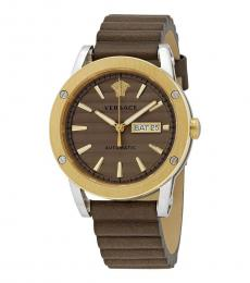 Versace Brown Theros Automatic Watch