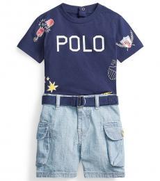 Ralph Lauren 2 PieceT-Shirt/Shorts Set (Baby Boys)