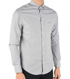 Armani Jeans Light Grey Striped Shirt