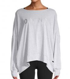 DKNY Optic Heather Crisscross Sweatshirt