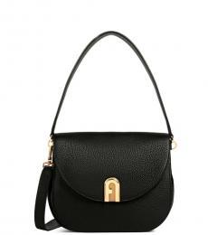 Furla Black Sleek Small Shoulder Bag