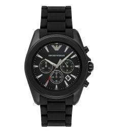 Emporio Armani Black Logo Chronograph Watch