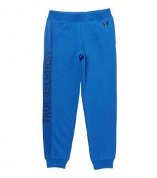 True Religion Little Boys Royal Blue Mesh Logo Sweatpants