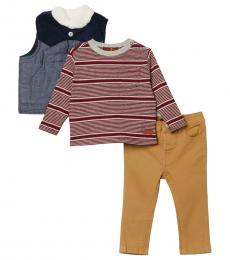 7 For All Mankind 3 Piece Vest/T-Shirt/Pants Set (Baby Boys)