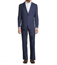 Ben Sherman Royal Blue Wool-Blend Suit