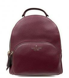Kate Spade Maroon Solid Small Backpack