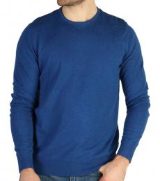 Calvin Klein Royal Blue Solid Crewneck Sweater