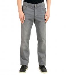 Versace Collection Grey Straight Leg Classic Jeans