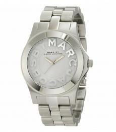 Marc Jacobs Silver Rivera Logo Dial Watch