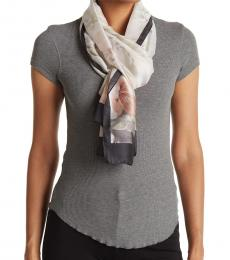 Vince Camuto White Tropical Climber Scarf