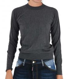 Dsquared2 Gray Wool Crew-Neck Sweater