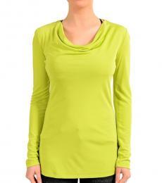 Green Mock Neck Long Sleeve Top