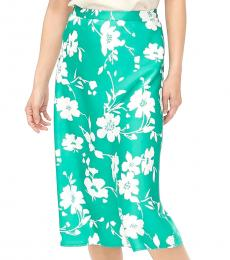 J.Crew Florence Floral Satin A-Line Midi Skirt