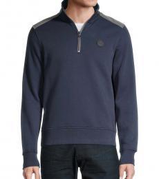 Michael Kors Navy Blue Quarter-Zip Pullover