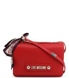 Red Scarf Medium Shoulder Bag