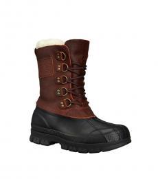 Ralph Lauren Brown Black Longhirst Hiking Boots