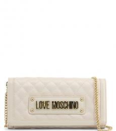 Love Moschino White Quilted Mini Shoulder Bag