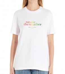 Stella McCartney White Slogan T-Shirt