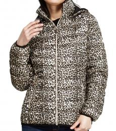 Michael Kors Leopard Mulberry Packable Short Jacket