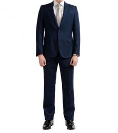 Blue Two Button Wool Suit