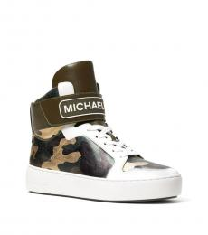 Olive Trent Metallic Camo Sneakers
