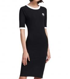 DKNY Black Body-Con T-Shirt Dress
