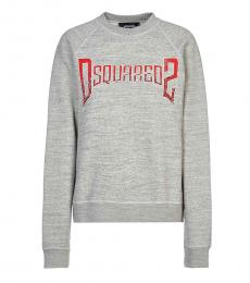 Dsquared2 Light Grey Crew Neck Logo Sweatshirt