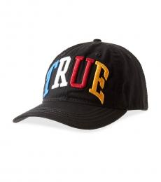 True Religion Black Rainbow Logo Baseball Cap