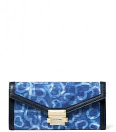 Michael Kors Blue Whitney Tie Dye Wallet