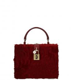 Red Fur Box Mini Satchel