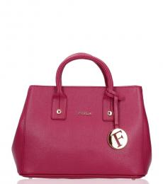 Raspberry Linda Small Satchel