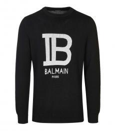 Black Logo Pullover Sweater