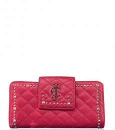 Juicy Couture Red Studded Zip Around Wallet