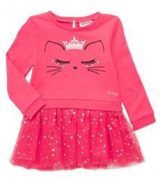 Little Girls Pink Embroidered Dress