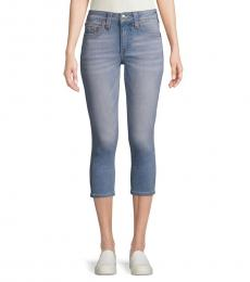 True Religion Light Blue Skinny-Fit Cropped Jeans