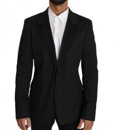 Black Cotton Stretch Blazer